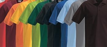 Viele bunte Hakro Farben Workwear