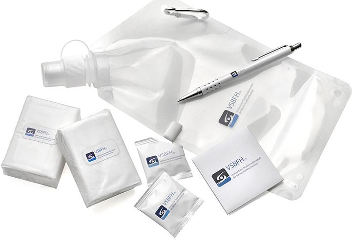 Werbeartikel für VSBFH, Kaugummi Taschen Kondom Taschentücher
