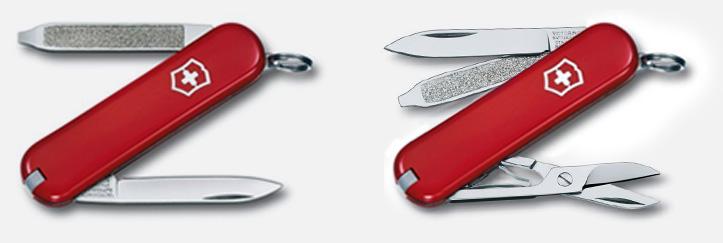 Victorinox Classic und Escort in rot