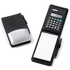 Notizblöckli mit integriertem Taschenrechner optimal für den Service